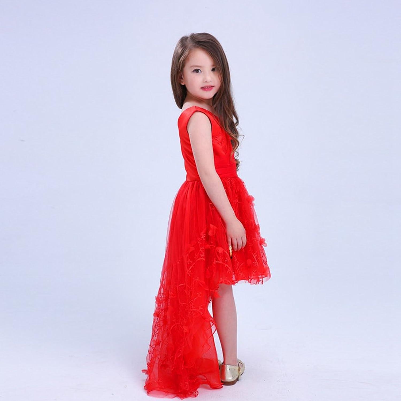 Yiiquan Yiiquan Mädchen Westlicher Stil Kurzarm V-Kragen Hochzeit ...