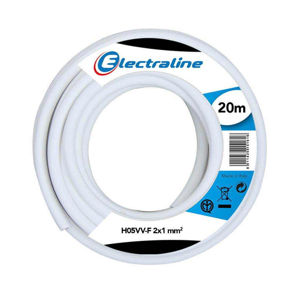 Negro Electraline 11405 20 mt Secci/ón 2G1 mm Cable para Extension Electrica H05VV-F