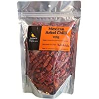 Poblano Mexican Arbol Dry Chillies, 100 g
