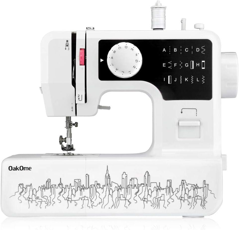 OAKOME Mini Máquina de Coser Automática Eléctrico de Doble ...