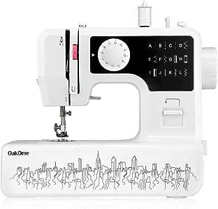 OAKOME Mini Máquina de Coser Automática Eléctrico de Doble Velocidad de Rosca Automática con Luz,Automatic Sewing Machine Eléctrico