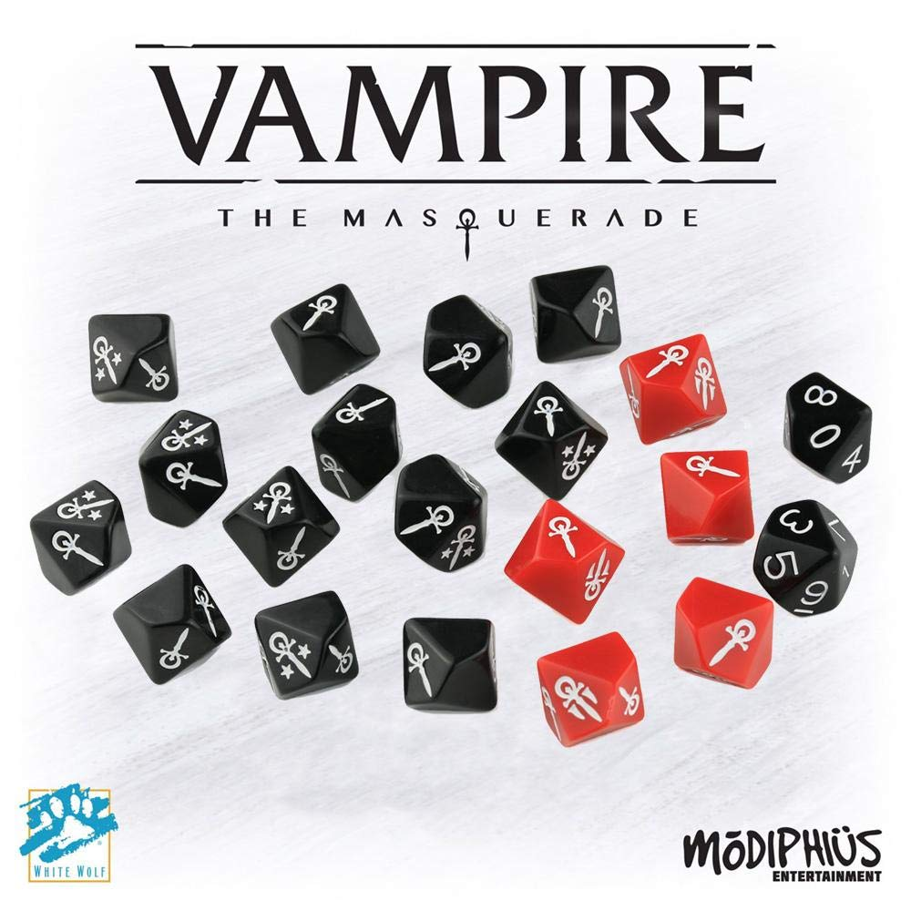 Modiphus Vampire The Masquerade: Dice Set by Modiphus