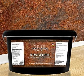 Wandfarbe Rost rostoptik wandfarbe rosteffekt 2 x 2 0 liter effektbürste all in