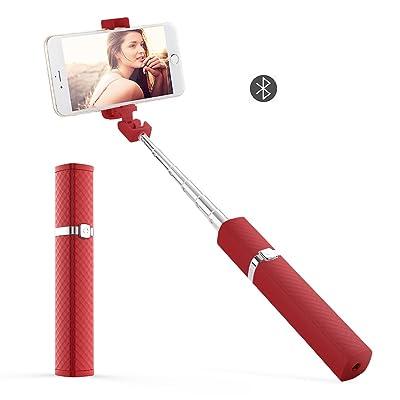 Palos selfie Bluetooth Control remoto inalámbrico extensible Mini Portable Universal para iPhone, Huawei, Samsung, Xiaomi, Con espejo retrovisor, trípode y monopie interfaz, Ángulo ajustable de 270 °,