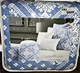 5-pc Hotel Balfour Quilt Set (Full/Queen) blue white cotton set (set includes 2 accent pillows)