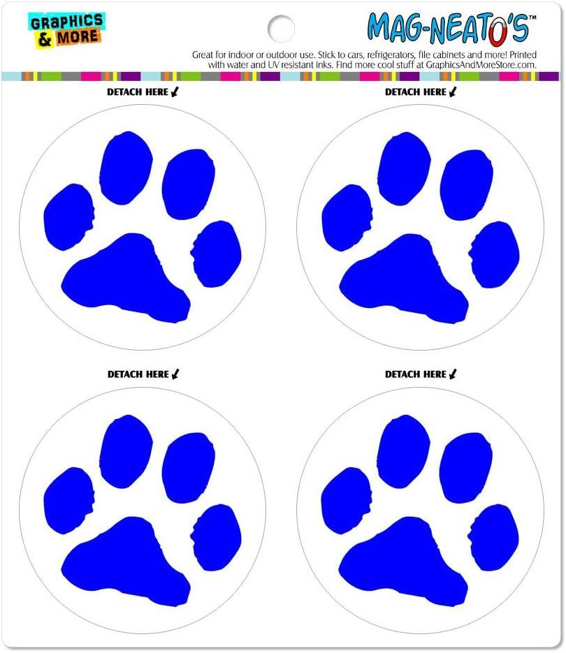 Blue Paw Print Euro Magnet