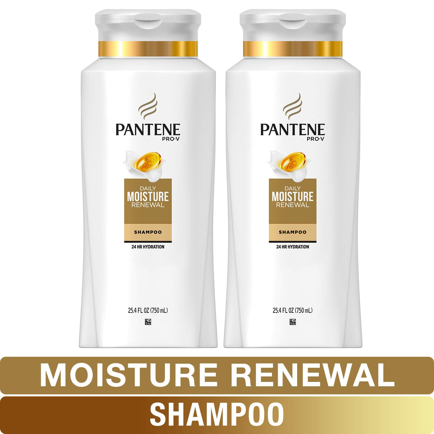 Pantene, Shampoo, Pro-V Daily Moisture Renewal for Dry Hair, 25.4 Fl Oz, Twin Pack by Pantene