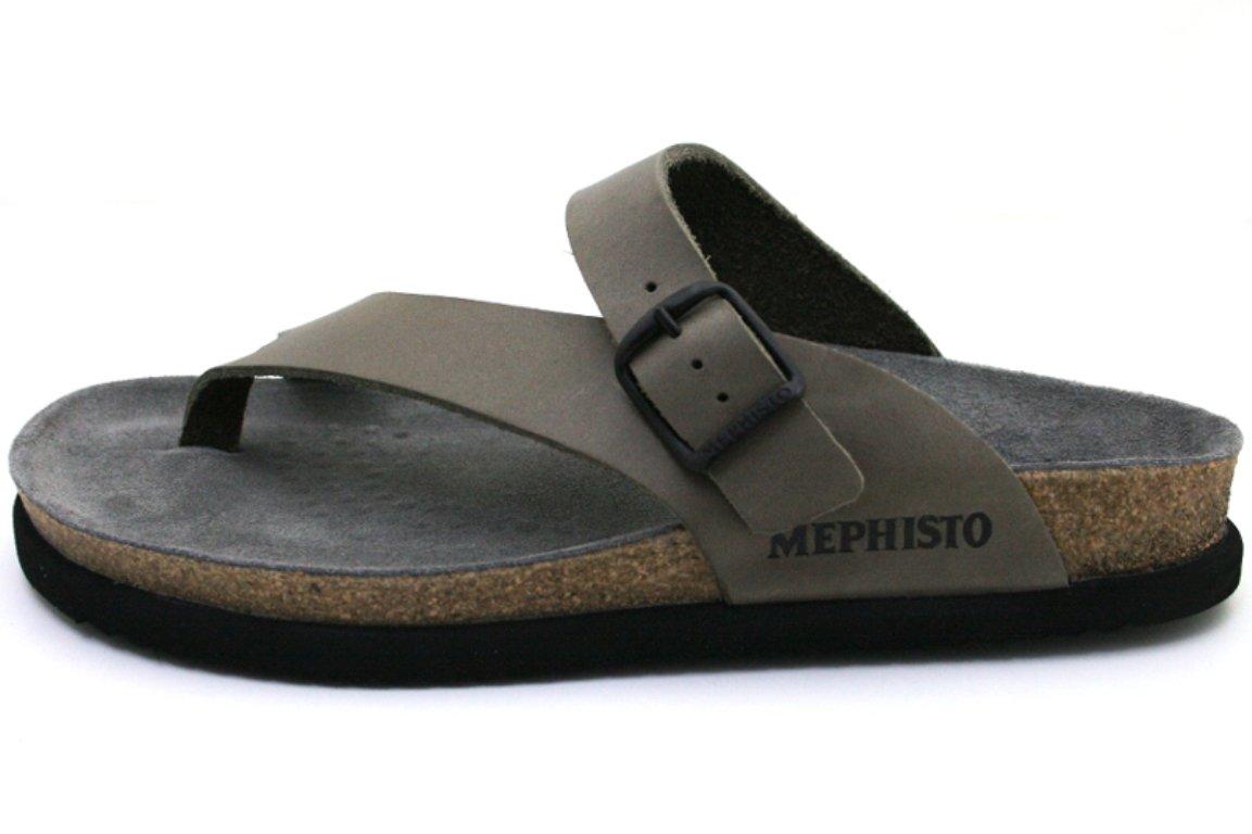 Mephisto - Sandalias de vestir para hombre 46 EU PEWTER