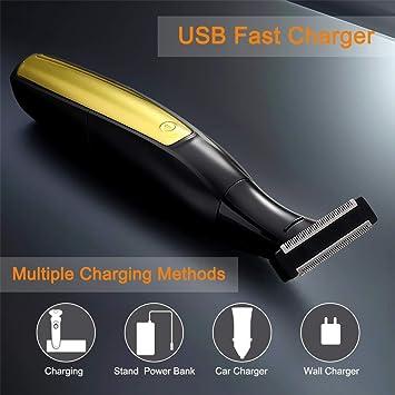 CestMall Máquina de afeitar recargable USB para hombre 3 en 1 ...