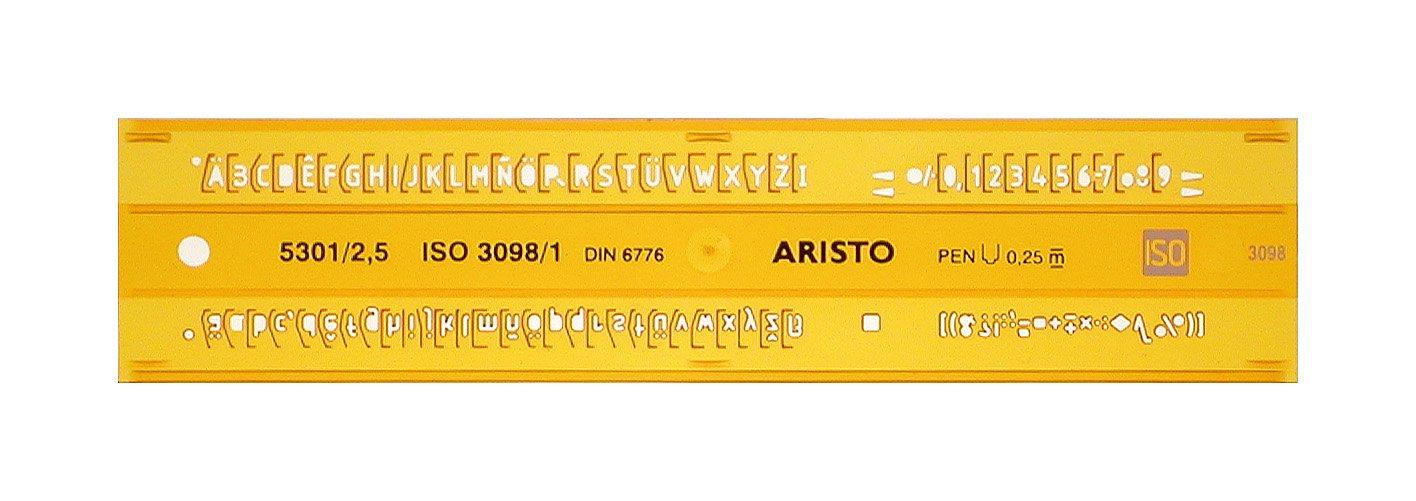 Aristo AR5301/2 STENCIL, H-PROFIL, 2,5 MM, UPR.