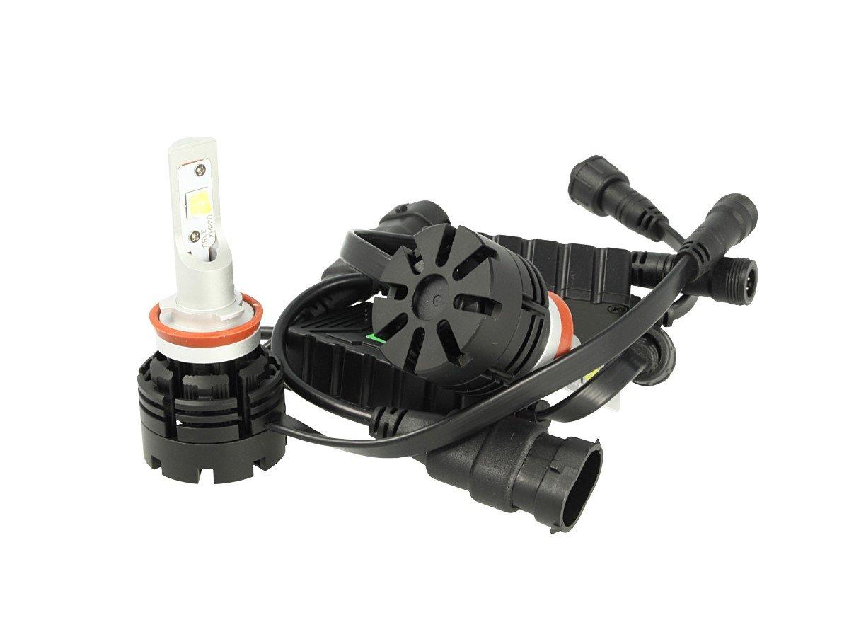Kit Full Led Canbus H8 H11 H9 40W Specifica Per Auto Con Faro Lenticolare Dissipatore A Ventola Cree XHP 70 Attacco Smontabile Fuoco Regolabile CARALL