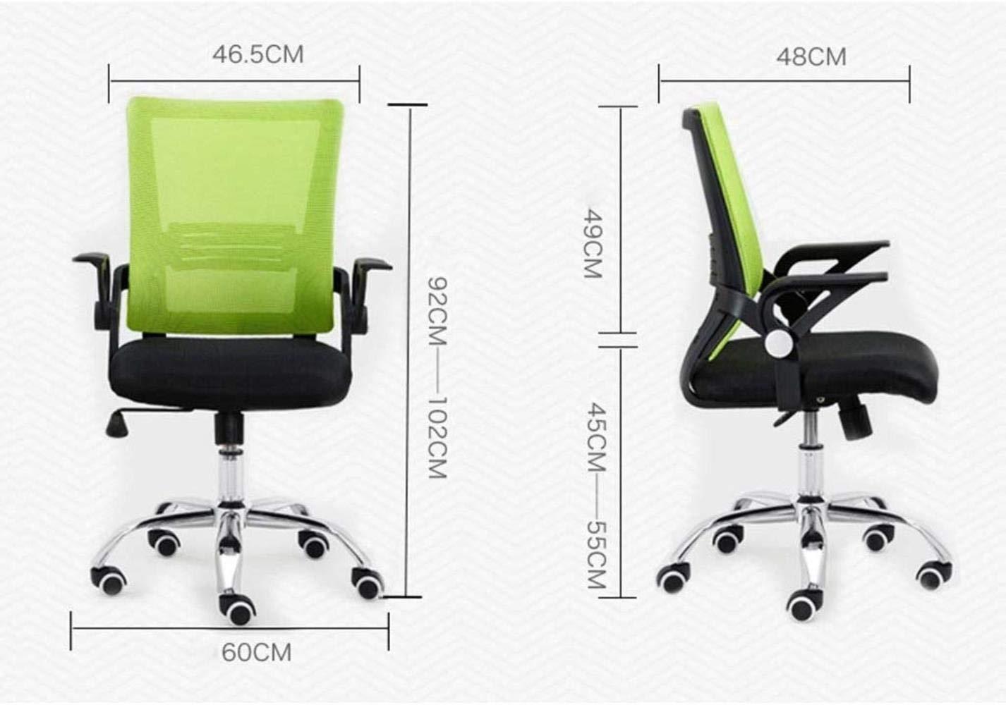 RXL bekväm kontorsstol datorstol rygg latex student lärande stol båge form enkel hushåll komfort vridstol robust (färg: Blå) gRÖN