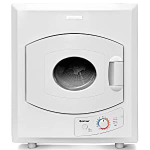 COSTWAY Tumble Dryer Electric Compact Stainless Steel Clothes Laundry Dryer (2.65 Cu.Ft.)