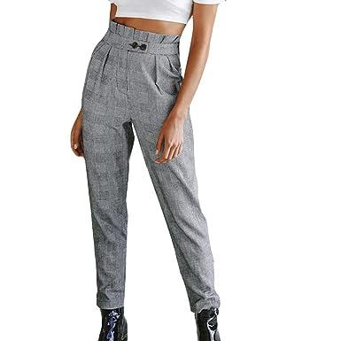 a65632bc9e Sylar Pantalones Mujer Cintura Alta con Cinturon