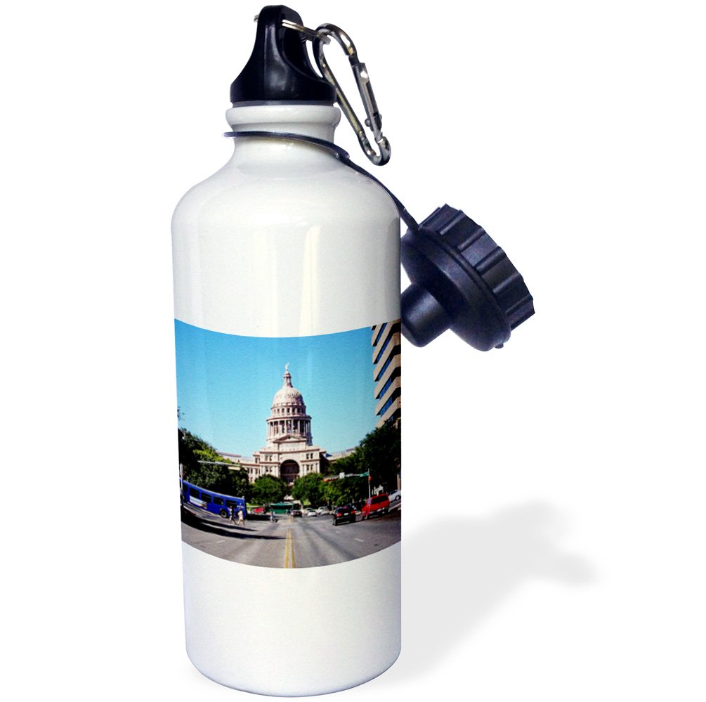 End of Street Textured Photo-Sports Water Bottle 21 oz Multicolor 21oz 3dRose State Capital Austin Texas wb/_184390/_1