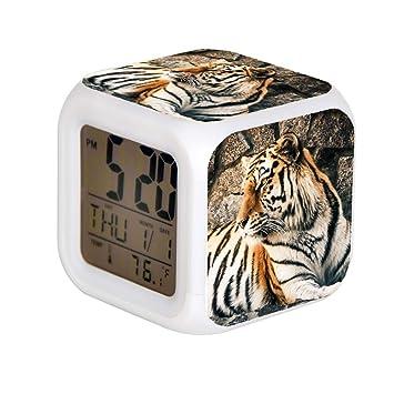 GIAPANO LED Alarma Colock 7 Colores Desk Gadget Alarma ...