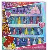 Beauty : Townley Girl Disney Princess Peel-Off Nail Polish Gift Set for Kids, 18 Count