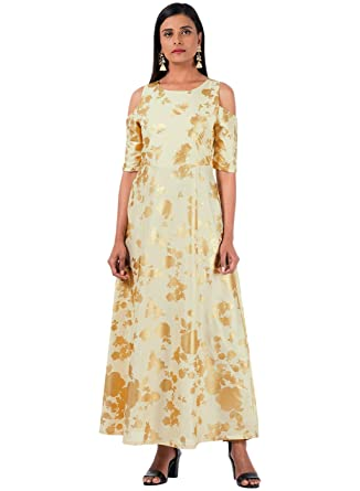 372ff10eb03 Indya Embroidered Partywear Long Maxi Dress Women Kurti Tunic Women ...