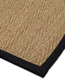 NaturalAreaRugs Opulence Seagrass Rug, (6-Feet by 9-Feet) Black Border Review