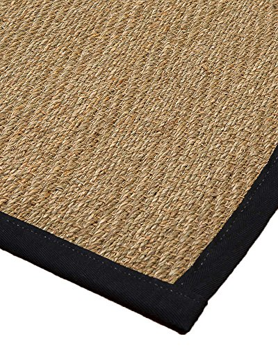 (NaturalAreaRugs Opulence Seagrass Rug, Handmade, 100 Percent Seagrass, Non-Slip Latex Back, Durable, Stain Resistant, 2' 6'' x 8')
