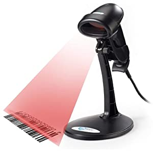 Esky USB Automatic Barcode Scanner Scanning Barcode Bar-code Reader 2.4GHz Handheld Bar-code Reader With Free Adjustable Stand for POS System