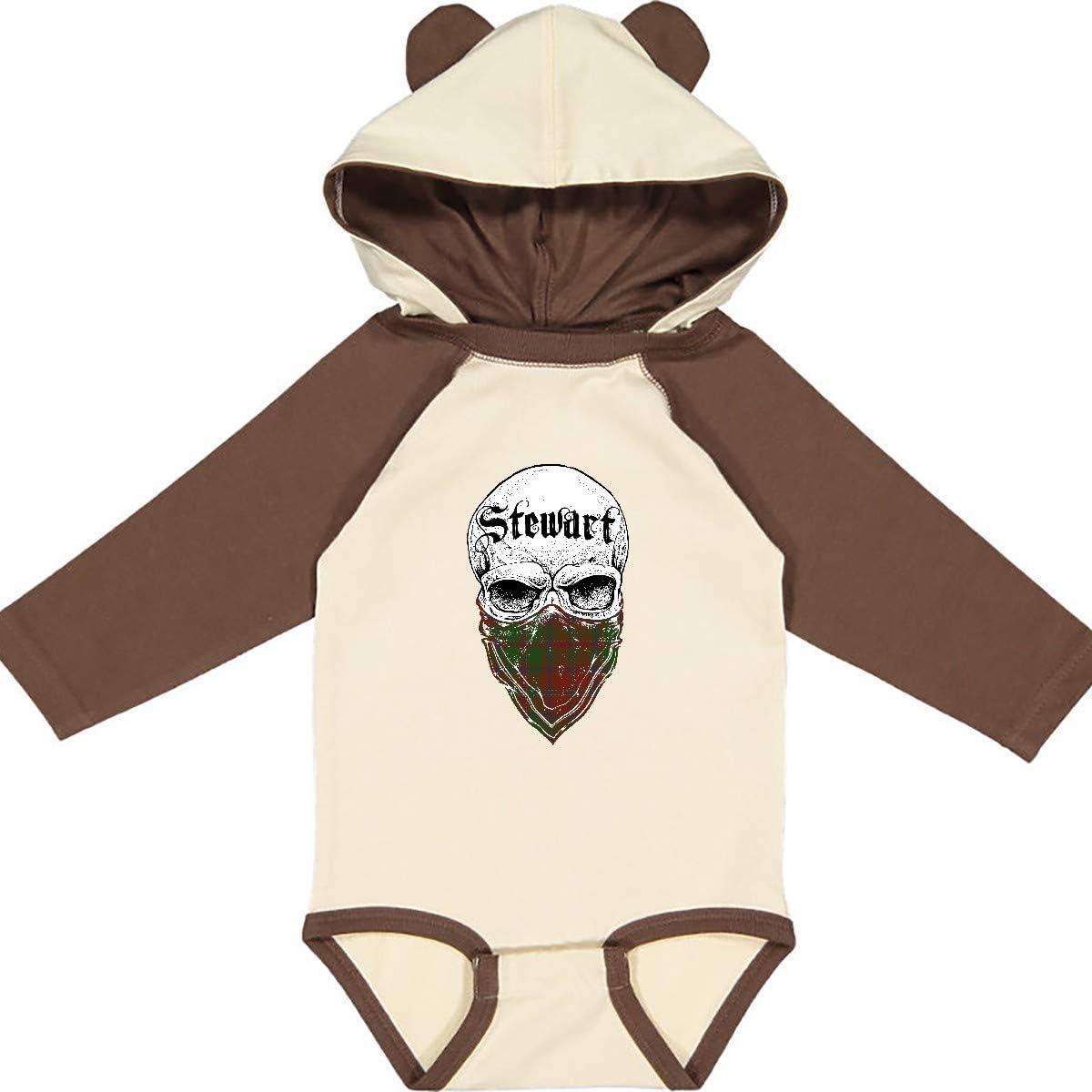 inktastic Stewart Tartan Bandit Long Sleeve Creeper