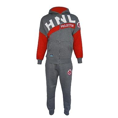 New Mens Sweatshirt Hooded Zip Up Top Jogging Hoodies Bottoms Jog Tracksuit Set