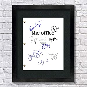 The Office TV Show Cast Autographed Signed Reprint 8.5x11 Script Steve Carrell John Krasinski Jenna Fischer Rainn Wilson