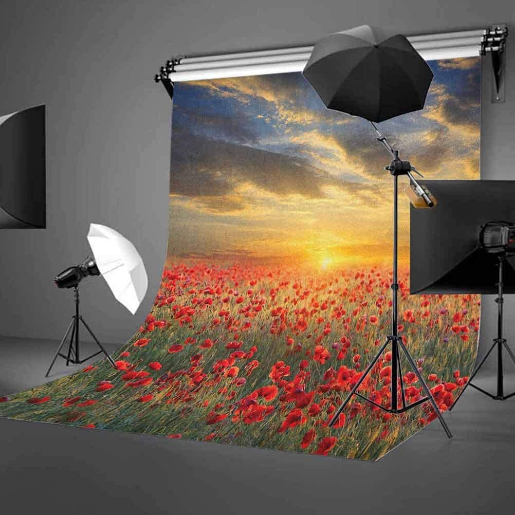 7x10 FT Vinyl Photography Background Backdrops,Ornamental Ottoman Garden Pattern with Tulips and Blossoming Flowers Background for Child Baby Shower Photo Studio Prop Photobooth Photoshoot