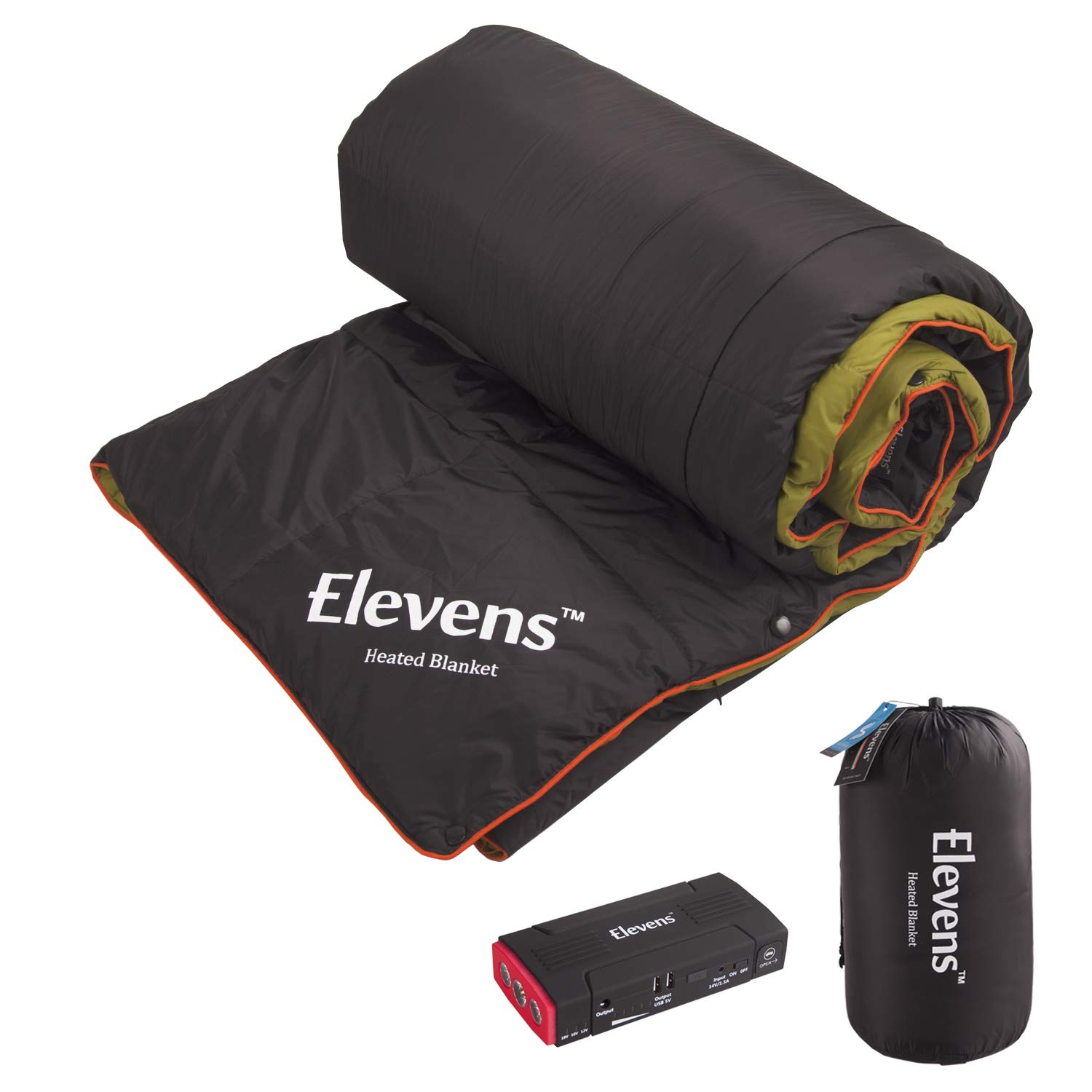 Battery Operated Heated Blanket Alternative to 4 Seasons Portable Sleeping Bag for Camping Hiking Travel by Elevens