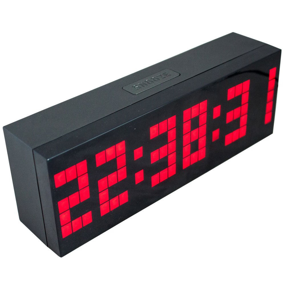 Amazon chihai digital led clock wall alarm digital calendar amazon chihai digital led clock wall alarm digital calendar clock count down timerred office products amipublicfo Gallery