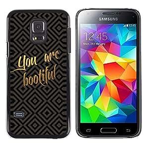 Shell-Star Arte & diseño plástico duro Fundas Cover Cubre Hard Case Cover para Samsung Galaxy S5 Mini / Galaxy S5 Mini Duos / SM-G800 !!!NOT S5 REGULAR! ( Funny You Are Beautiful )