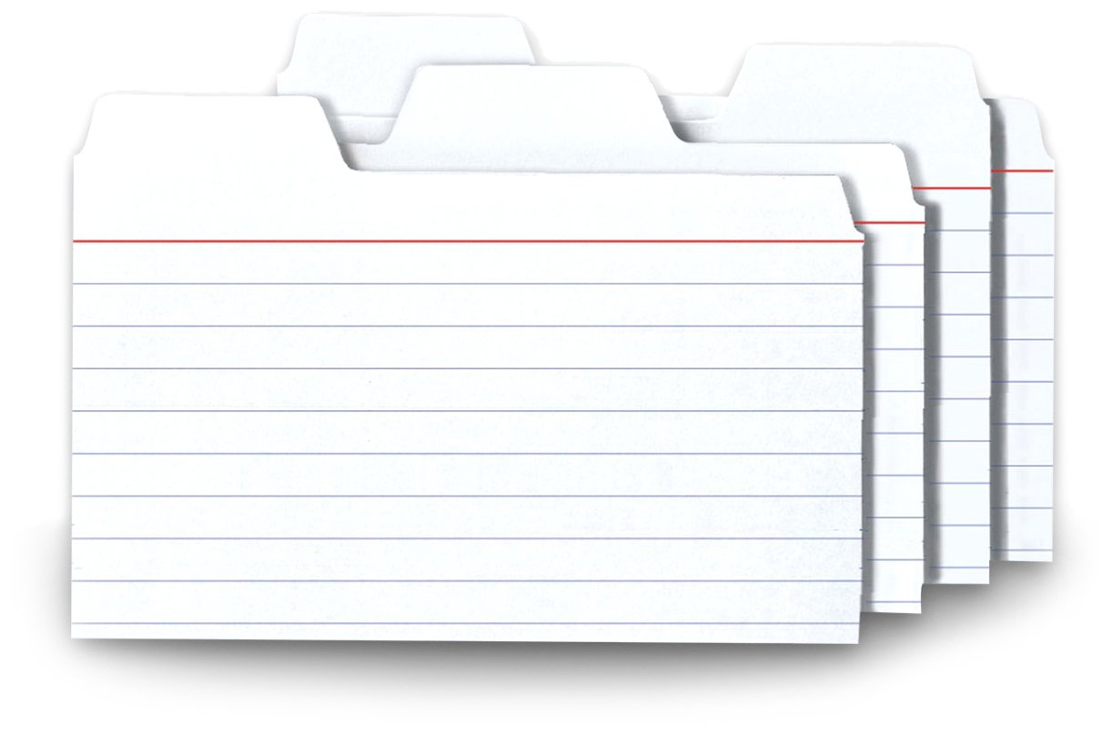 index card size template