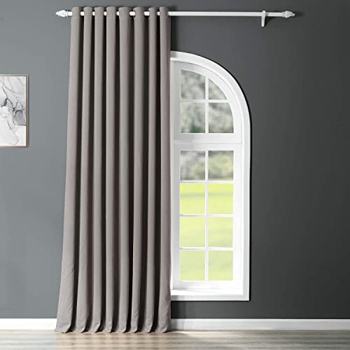 HPD Half Price Drapes BOCH-174402-120-GRDW Grommet Extra Wide Blackout Room Darkening Curtain 1 Panel , 100 X 120, Neutral Grey