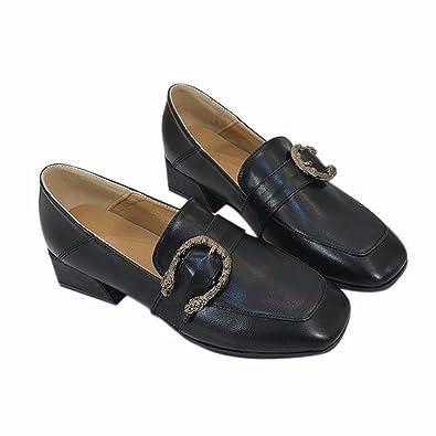 YUCH Ein Einzelner Schuh Schnalle mit Komfortablen Zwanglosen Schuhe mit Dicken