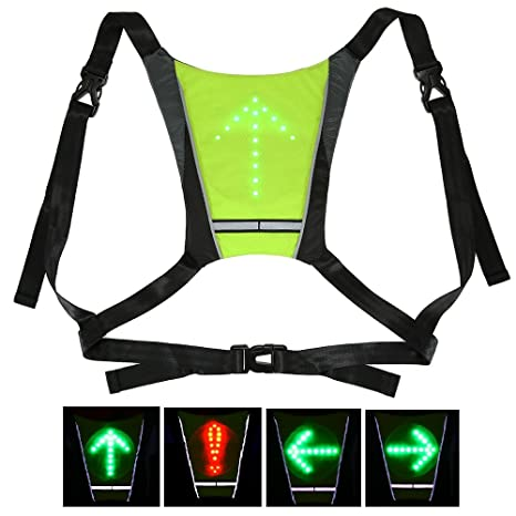 Bicycle Bags & Panniers Lixada Bike Bag Usb Reflective Vest Backpack With Led Turn Signal Light Remote Control Sport Safety Bag Gear For Cycling Buy One Give One