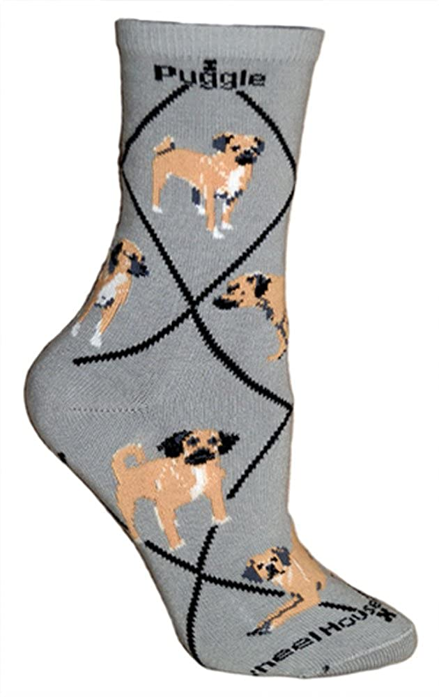 Puggle Grey Ladies Socks Wheel House Designs PH1586M