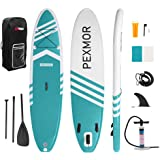 PEXMOR Inflatable Stand Up Paddle Board for Fishing Yoga Paddle Boarding with Premium SUP Accessories & Carry Bag, Surf Contr