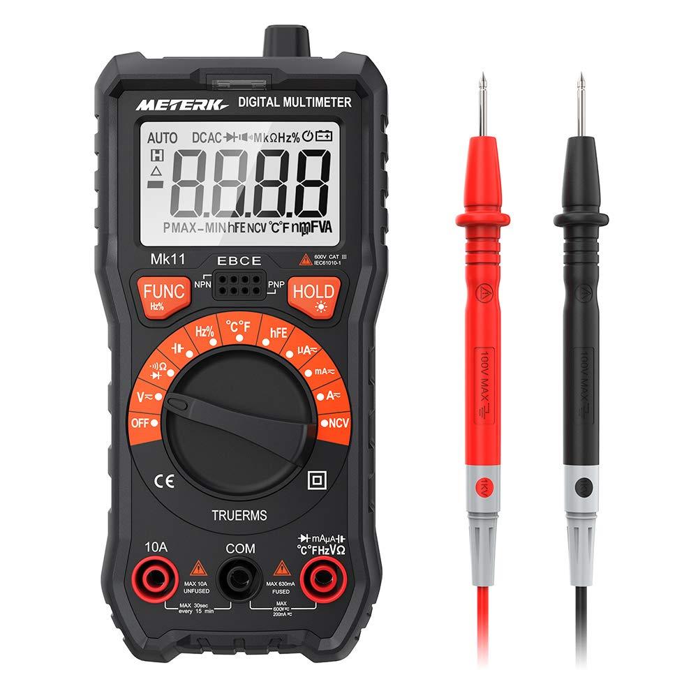 Multímetro Meterk 2000 Cuentas AC/DC Resistencia Capacidad ncv-116
