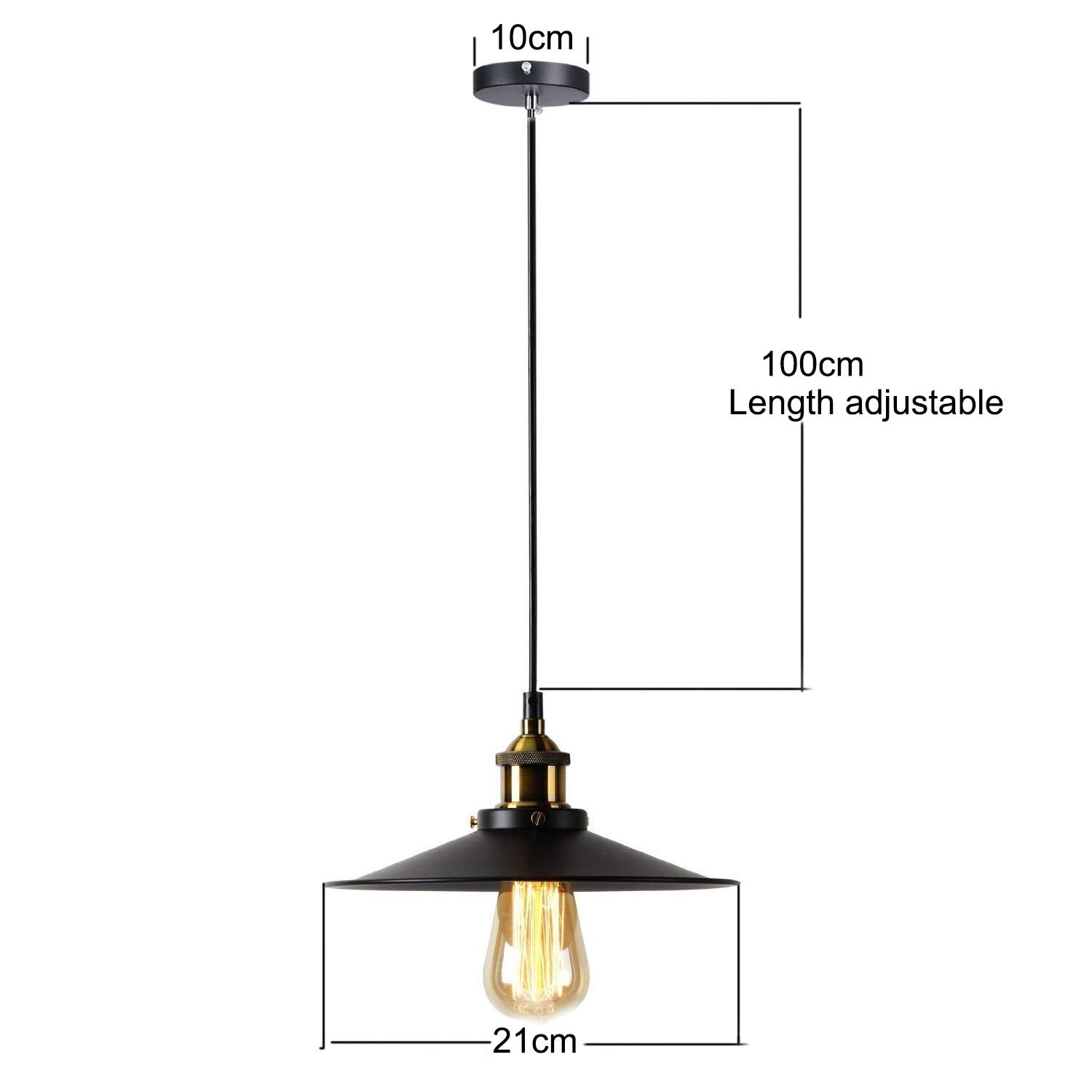 Lucoss Wall Sconces Light 2 Packs Bulb Not Included E26 Base Black Industrial Vintage Edison Wall Lamp Fixture Simplicity Steel Finished
