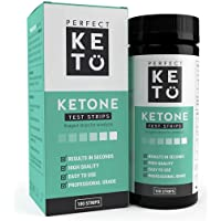Perfect Keto Test Strips - Best for Testing Ketones in Urine on Low Carb Ketogenic Diet, Ketosis Home Urinalysis Tester…