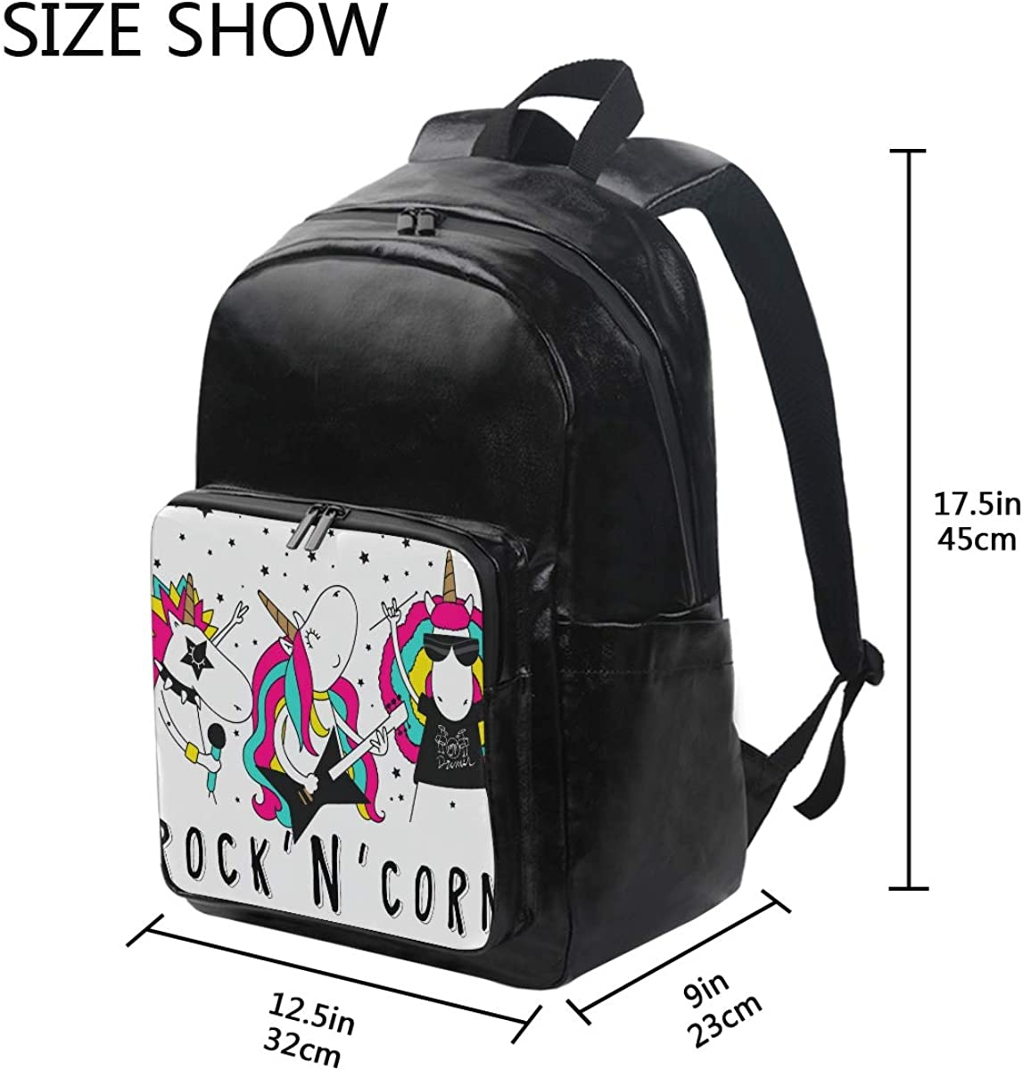 Mr.Brilliant Cute Unicorn Rock Backpack for Boy Girl Bag Bookbag 2061438