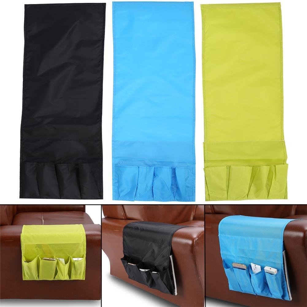 Black SoarUp 3 Colors Multi-Functional Sofa Chair Armrest Pocket,94 32cm Oxford 4 Pockets Bedside Arm Chair Desk Sofa Slipcovers Storage Bag TV Remote Controller Holde.