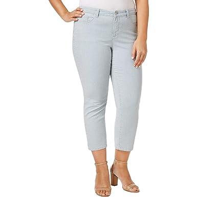 3efda1e655c Charter Club Plus Size Bristol Printed Tummy-Control Capri Jeans in ...