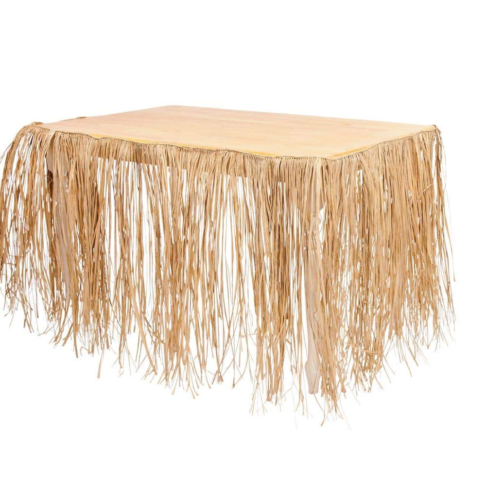 Fun Express Tiki Bar rafia e instrucciones para hacer faldas mesa ...