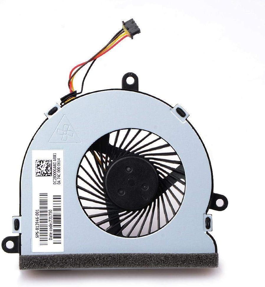 TB® Ventilador de refrigeración de Repuesto para HP Notebook 15-AC000 15-AC100 Modelos HP PC 250 G4 G5 255 G4 G5 256 G4 G5, SPS-813946-001