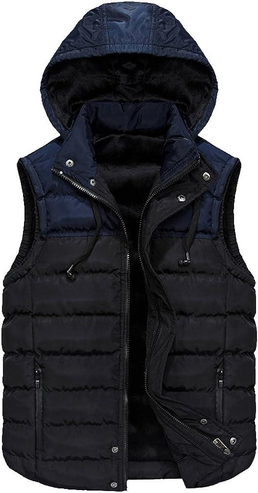 Elonglin Mens Padded Vest Body Warmer Sleeveless Jacket Quilted Gilet Puffer