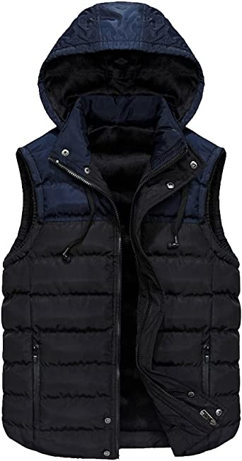 Mens Hooded Padded Gilet Jacket Quilted Puffer Vest Sleeveless Puffa Jackets  Slim Fit Bodywarmer Gilets with Removable Hood Body Warmer Bubble Slim Fit  Bodywarmers Warm Winter Thicken: Amazon.co.uk: Clothing