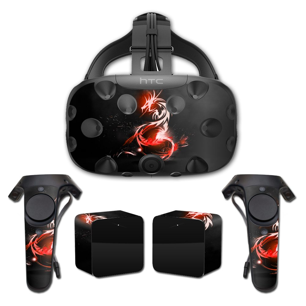 MightySkins Skin for HTC Vive Full Coverage - Tribal Dragon   Protective, Durable, and Unique Vinyl Decal wrap Cover   Easy to Apply, Remove, and Change Styles   Made in The USA