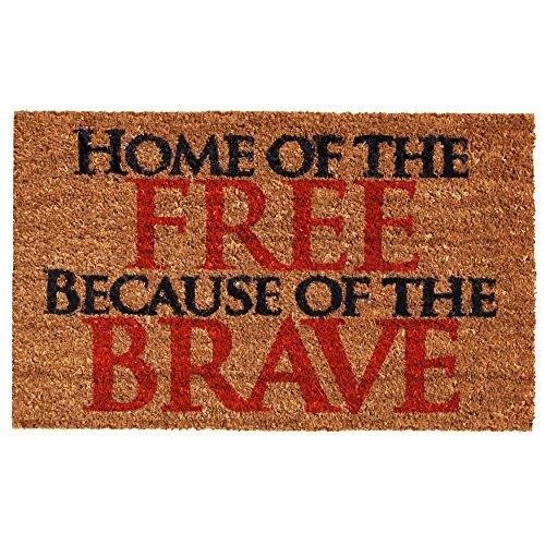 Calloway Mills 121281729 Home of the Free Doormat, 17